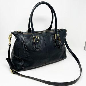 Coach Hamilton Pebbled Leather Satchel Bag